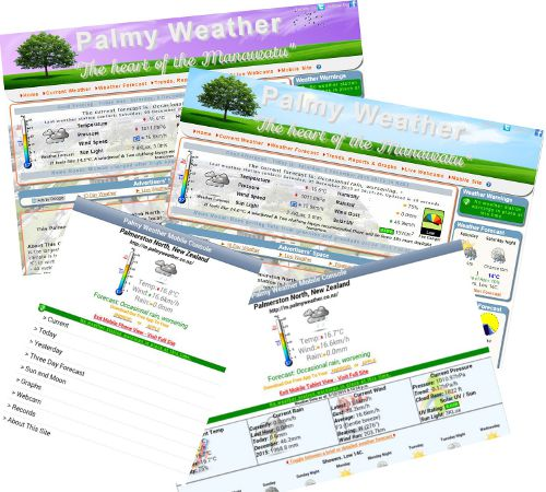 Palmy Weather Site Examples