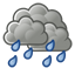 Rain showers early will evolve into a more steady rain overnight. Low 13C. Winds NW at 15 to 25 km/h. Chance of rain 90%.