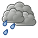 Occasional light rain. High 17C. Winds WNW at 25 to 40 km/h. Chance of rain 80%.