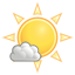 Sunny along with a few clouds. High 23C. Winds SE at 10 to 15 km/h.