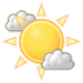 Partly cloudy skies. High 22C. Winds ESE at 10 to 15 km/h.
