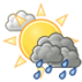 Cloudy skies with a few showers this afternoon. High 21C. Winds NW at 15 to 30 km/h. Chance of rain 30%.