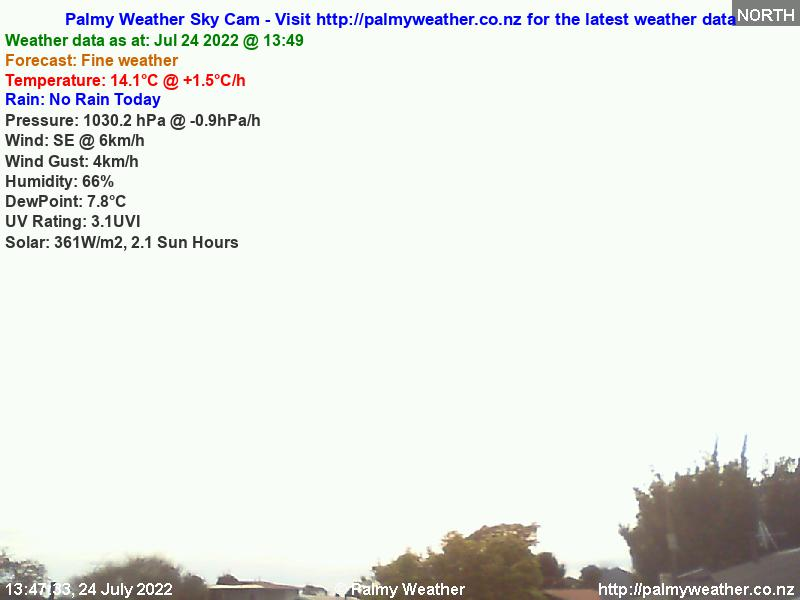 Palmerston North City Weather Webcam